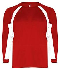 Badger Sport Youth Long-Sleeve Hook Athletic T-Shirt - 2154