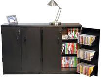 Venture Horizon Double Multimedia TV Cabinet- Black