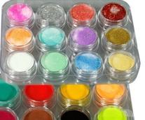 350buy 24 Colors 3D Nail Art Glitter Acrylic Powder