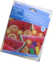 24 Soft Chalk Pastels Set for Art Drawing, Scrapbooking &