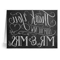 24 Chalkboard Note Cards - New Mr. & Mrs. - Blank Cards -