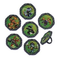 Bakery Crafts - 24 Skylanders Giants Cupcake Ring Toppers,