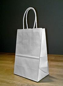 Creative Hobbies® 24 White Small Paper Gift Handle Bags