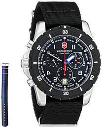 Victorinox Men's 241678.1 Analog Display Swiss Quartz Black