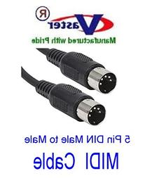 VasterCable Standard MIDI Cable - 6 Foot