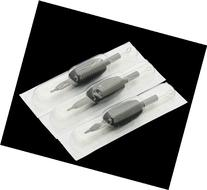 25 DISPOSABLE TATTOO NEEDLES TUBE GRIPS ROUND LINER 5RL BY