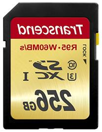 Transcend 256 GB High Speed 10 UHS-3 Flash Memory Card 95/60