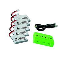 Noiposi 3.7V 350mAh 25C Lipo Battery 5Pcs And 1pcs X6