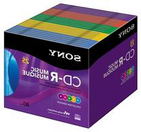 Sony 25CRM80XS CD-R Audio Color in Color Slim Jewel Cases 25