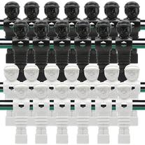 26 Old Style Black and White Foosball Men