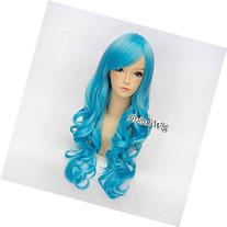 27 Inches/ 70cm Curly Sky Blue Party Long Lolita Women Girls