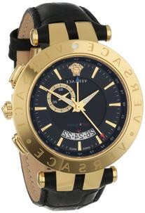 Versace Men's 29G70D009 S009 V-RACE Yellow Gold Ion-Plated