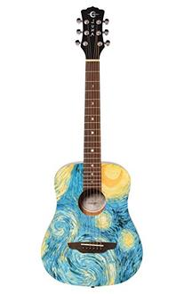 Luna Travel 3/4 Size Acoustig 6 String Guitar w/ Starry