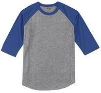 Joe's USA Mens 3/4 Sleeve 100% Cotton Baseball Tee Shirt,M