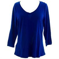 BODEN Women's 3/4 Sleeve Tee US Sz 12 Cobalt