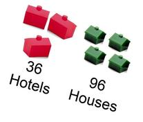3 Pack - Monopoly House and Hotel Pack