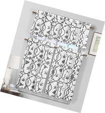 3 Piece Semi Sheer Window Curtain Set: Botanical Design, 2