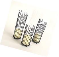 3 Piece Set of Nature Inspired Organic Willow Iron