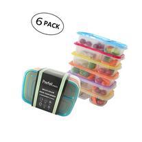 Prefer Green 3-Compartment Bento Lunch Box Containers Multi