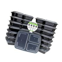 Freshware 15-Piece 3-Compartments Bento Lunch Box with Lids