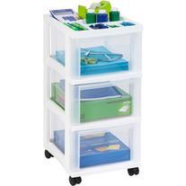 IRIS 3-Drawer Rolling Storage Cart