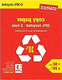 Staples 3-Hole Punch 30% Recycled Copy Fax Laser Inkjet