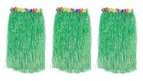 1 X Lot 3 Adult Luau Hula Party Skirts-Green w/Floral