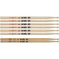 Vic Firth 3-Pair 5B Sticks with Free Pair Shogun 5B Oak Wood