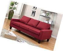 """Home Life 3 Person Contemporary Upholstered Linen Sofa, 77"""""""