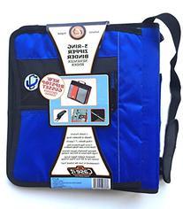 Case-it 3 Ring Zipper School Binder / Coupon Organizer with