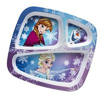 Zak! Designs 3-Section Plate featuring Elsa, Anna & Olaf