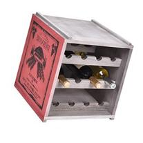 Costway 3 Tiers 12 Bottle Wood Wine Rack Storage Cabinte
