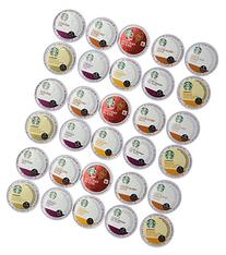 30 Count - Variety Pack of Starbucks Coffee K-Cups for All