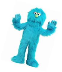 "30"" Blue Monster Puppet, Full Body Ventriloquist Style"