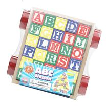 30 Piece ABC Stack N' Build Wagon Blocks with Learning