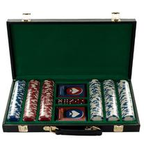 Trademark Poker 300 Hold'Em Poker Chips Set in Vinyl Case,