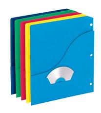 Pendaflex 32900 Slash Pocket Project Folders, Jacket, Letter