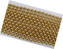 33 inch 07mm Round Metallic Gold Mardi Gras Beads - 6 Dozen