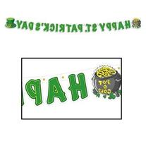 Beistle 33830 Happy St. Patrick's Day Streamer, 5-Inch by 5-