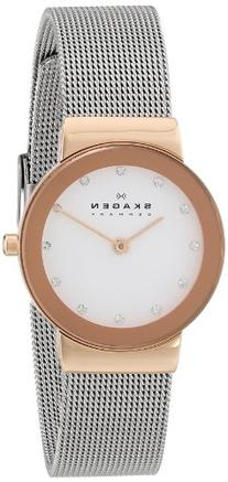 Skagen Women's Ancher Quartz Two-Tone Stainless Steel Mesh