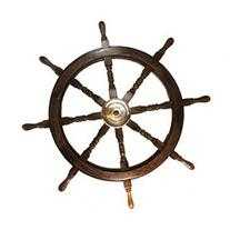 36 Wooden Ship Wheel - Pirate and Fishing Boat Decor