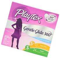 Playtex Gentle Glide 360 Degree Plastic Tampons Multi-Pack,