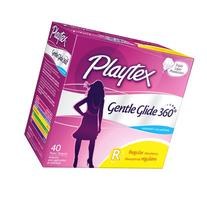Playtex Gentle Glide 360 Plastic Tampons Unscented, Regular