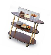 Geneva 36303 Rounded Oval Style- 3-Shelf Wood Laminate