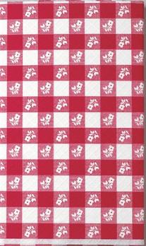Creative Converting 37488 Red Gingham Plastic Tablecover