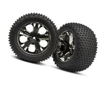 """Traxxas 3770A 2.8"""" Alias Tires Pre-Glued on All-Star Black-"""