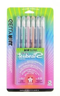 Sakura 37904 6-Piece Gelly Roll Assorted Colors Stardust