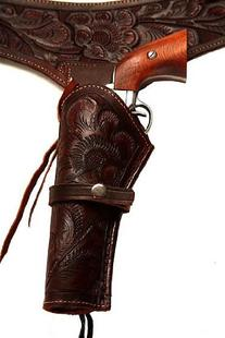 38/357 Caliber Brown Leather Gun Holster Size 40