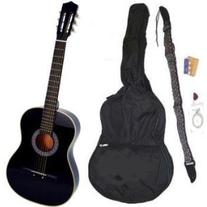 38 Black Acoustic Guitar Starter Package, Guitar, Gig Bag,