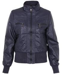 3904, PU Leather Biker Jacket